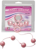 Marble Collection Anal Beads Medium Pink