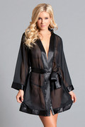Aurora robe black, 1x/2x
