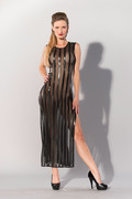 Gp datex long dress with striped pattern