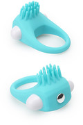 Lit-up silicone stimu ring 5 blauw